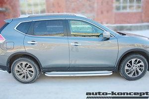 Пороги с площадкой D 60,3  Nissan X-Trail 2015-