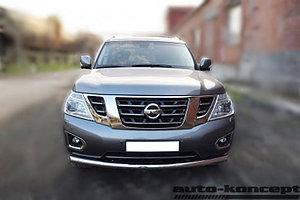 Защита передняя D 76,1 Nissan Patrol 2014-