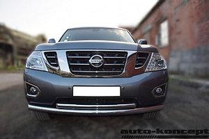 Защита передняя двойная D 76,1/60,3 Nissan Patrol 2014-