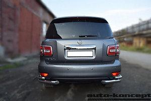 Защита задняя уголки двойные D 76,1х50,8 Nissan Patrol 2014-