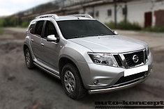 Обвес, защита бамперов, порогов из нержавеющей стали Nissan Terrano 2014-