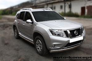 Защита передняя (ОВАЛ) D 75х42 Nissan Terrano 2014-