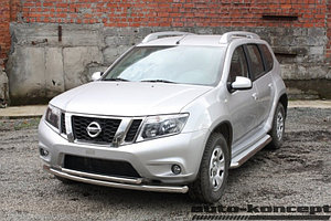 Пороги с площадкой D 60,3 Nissan Terrano 2014-