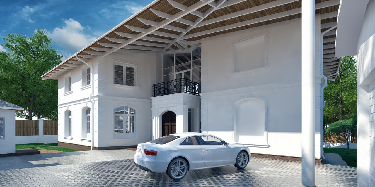 Дизайн экстерьера частного жилого дома