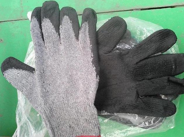 Перчатки х/б прорезиненные, фото 2