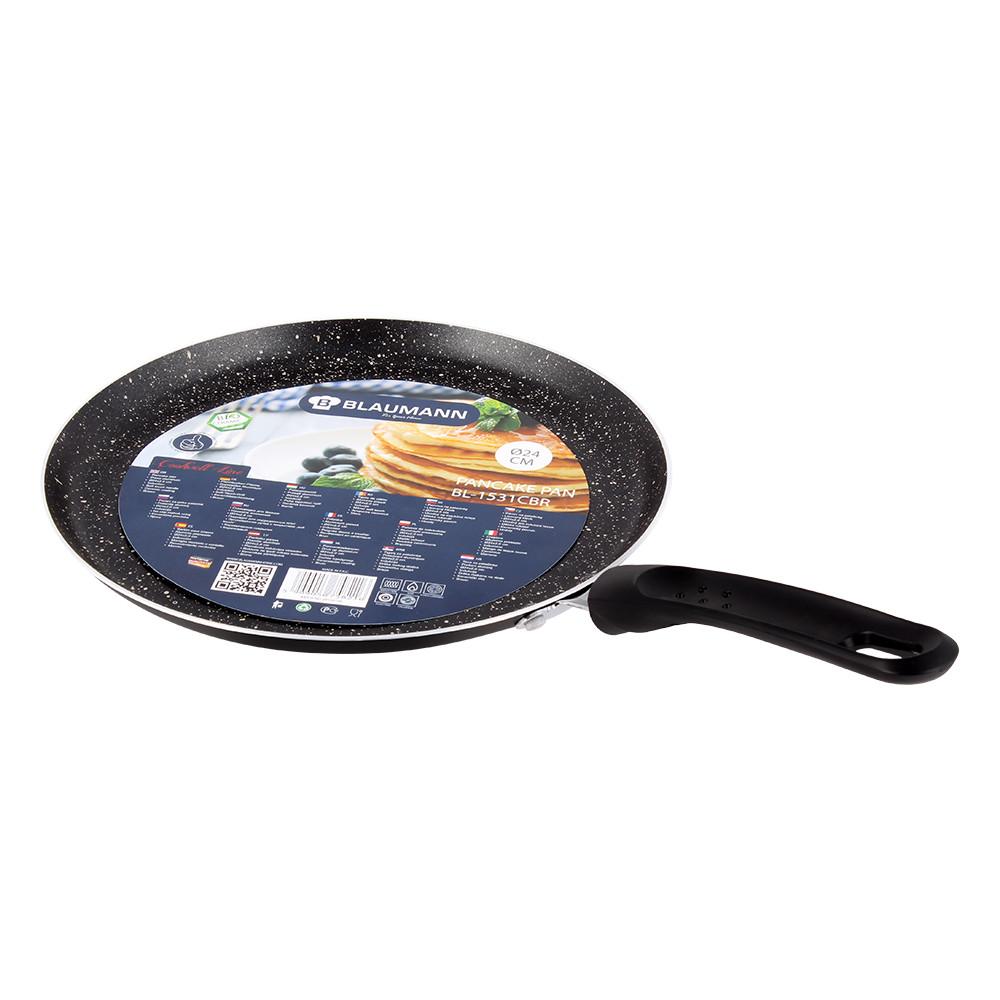 Сковородка блинная  Blaumann с лопаткой 24 см. BL-1531MB-SP