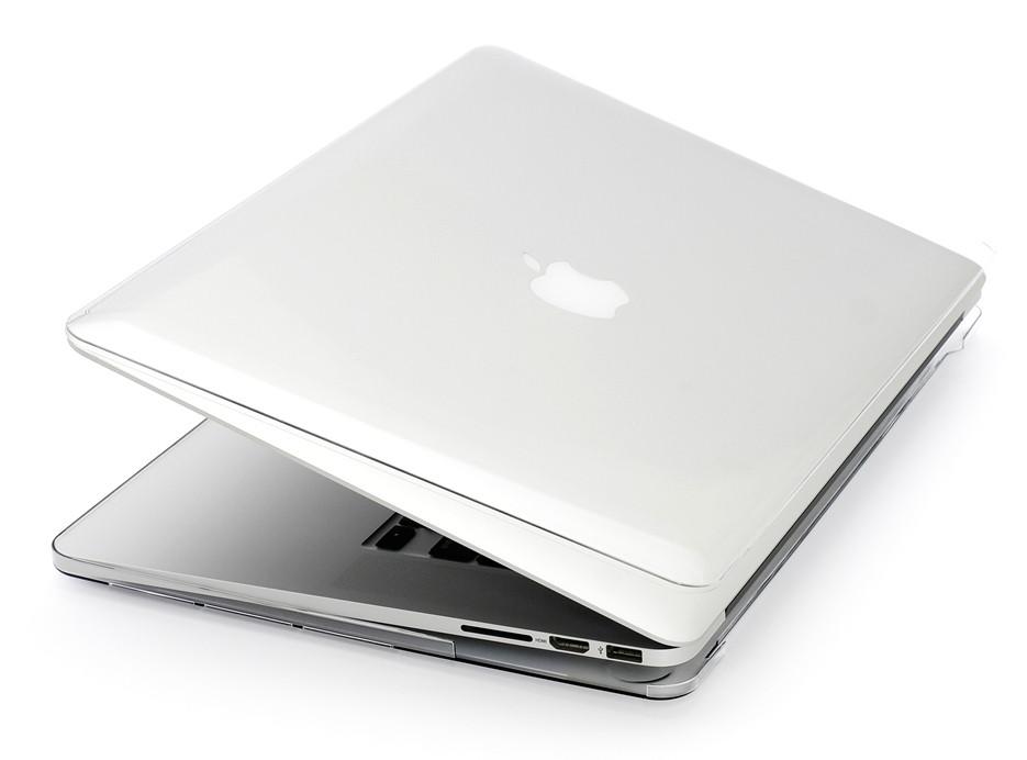 Глянцевый пластиковый чехол для MacBook Pro 13'' 2017 A1708 (прозрачный)