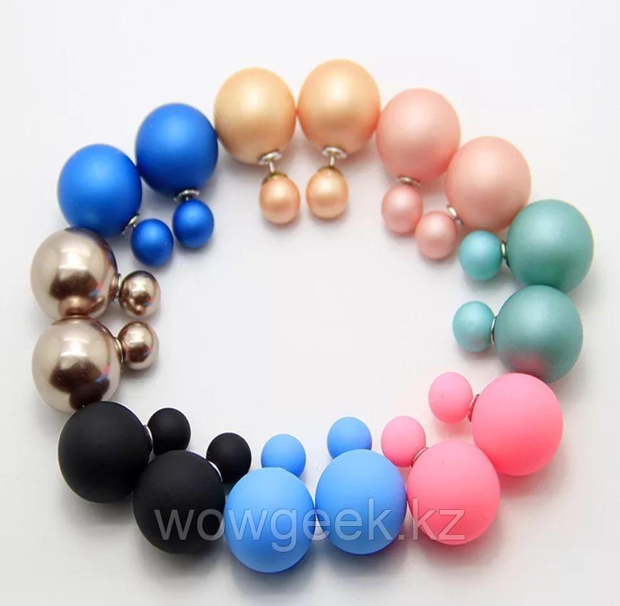 Серьги от Dior (пуссеты) 5 пар (разных цветов)