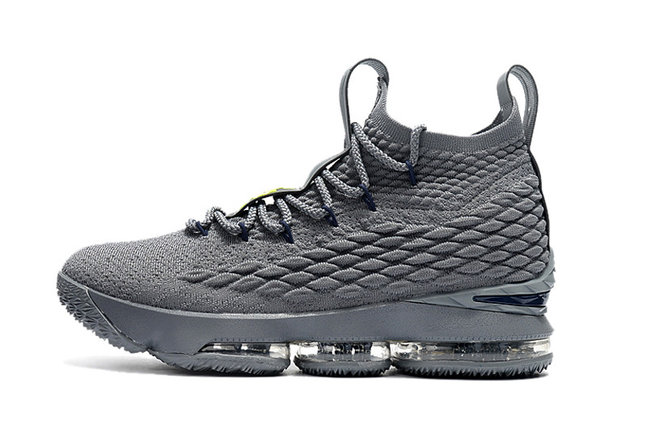 Баскетбольные кроссовки Nike Lebron 15 (XV) from LeBron James серые, фото 2