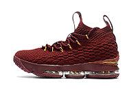 Баскетбольные кроссовки Nike Lebron 15 (XV) from LeBron James бордовые