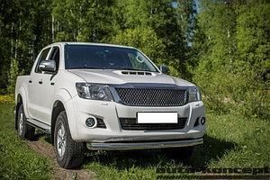 Защита передняя (ОВАЛ) D 75х42 Toyota  Hilux 2011-2015