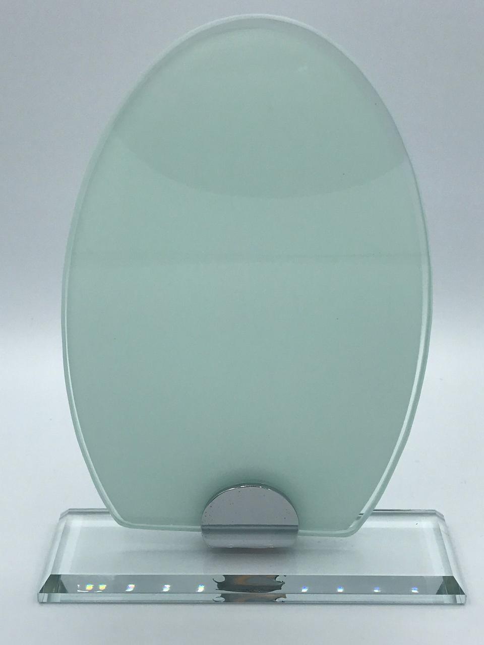 """Награда стеклянная для сублимации (h 20см) """"Овал"""""""