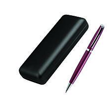 Ручка металлическая шариковая, бордовая, в футляре