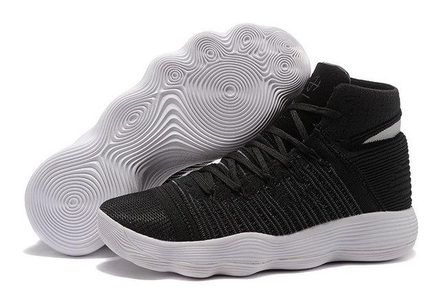 Баскетбольные кроссовки Nike Lunar Hyperdunk 2017 flyknit черные, фото 2