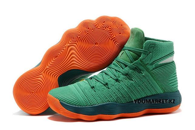 Баскетбольные кроссовки Nike Lunar Hyperdunk 2017 flyknit зеленые, фото 2