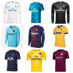Клубные футбольные формы сезона 2017-18