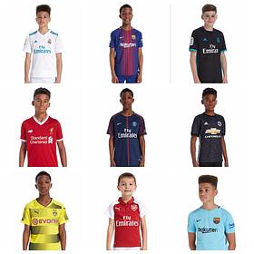Детские клубные футбольные формы сезона 2017-18