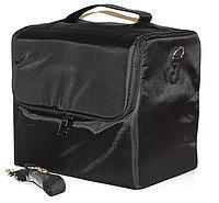 Чемодан-сумка тканевый с внутренними полками. Цвет-черный.