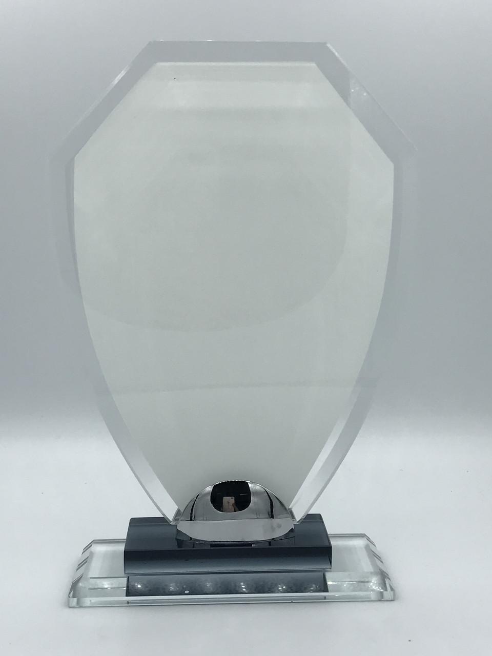 """Награда стеклянная для сублимации (h 20см) """"Щит"""""""