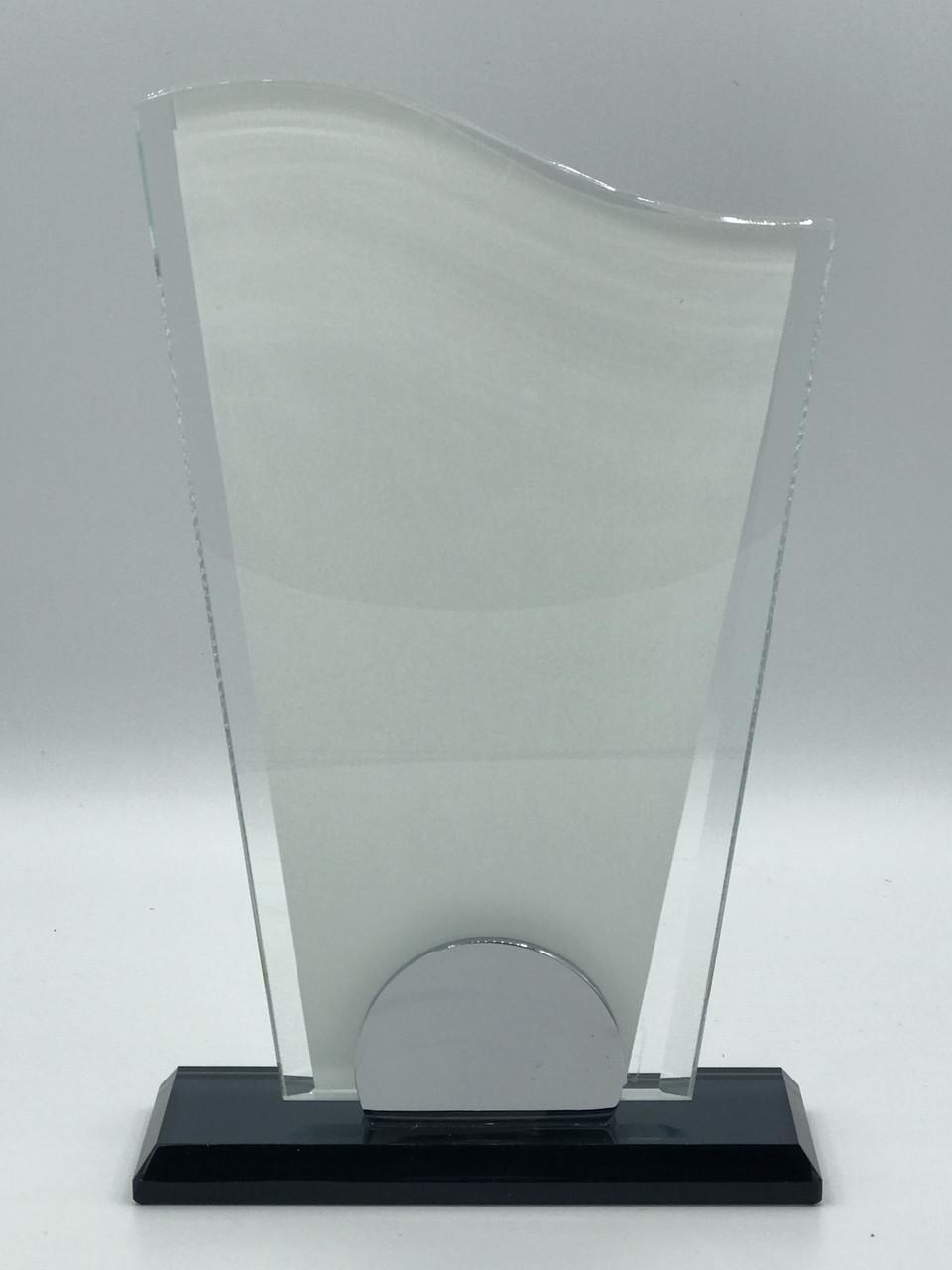 """Награда стеклянная для сублимации (h 20см) """"Вымпел"""""""