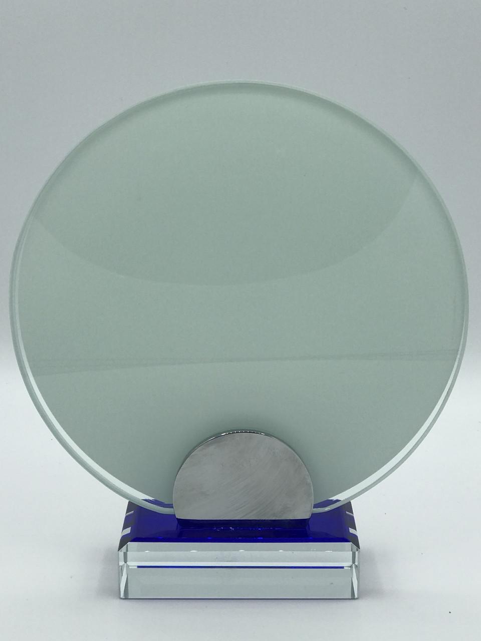 "Награда стеклянная для сублимации (d 15см) ""Круг"""