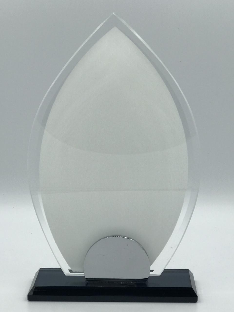 "Награда стеклянная для сублимации (h 20см) ""Капля"""