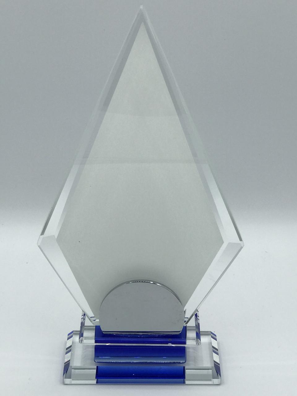 """Награда стеклянная для сублимации (h 20см) """"Айсберг"""""""