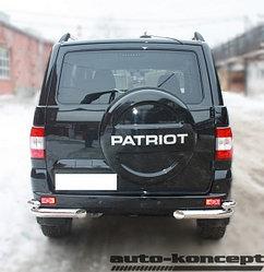 Защита задняя уголки двойные D 76,1/50,8  УАЗ  Патриот 2014-2016, 2016-