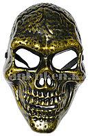 Маска страшная карнавальная Череп на Хэллоуин (золото)
