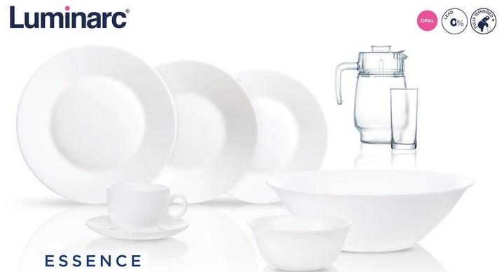 Столовый сервиз Luminarc Essence White 46 предметов на 6 персон