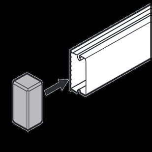 Заглушка 15x10 мм METRA
