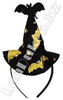 Ободок Шляпа ведьмы с золотистым принтом