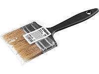 Кисть плоская СИБИН, пластиковая ручка, светлая щетина, 75мм