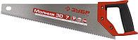 Ножовка универсальная (пила) ЗУБР МОЛНИЯ-3D 400 мм, 7TPI, 3D зуб, точный рез вдоль и поперек волокон