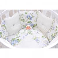 Комплект послельного белья для круглой кроватки GulSara Сатин (10 предметов)