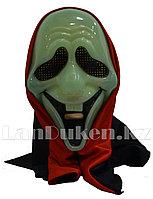 Карнавальная маска Крик смеющийся фосфорная