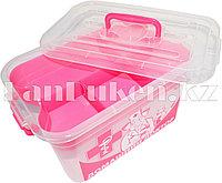 """Аптечка для лекарств 6,5 л """"Домашний Доктор"""" с вкладышем (контейнер для аптечки розовый) 80903"""