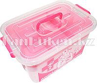 """Аптечка для лекарств 10 л """"Домашний Доктор"""" с вкладышем (контейнер для аптечки розовый) 81003 (003)"""