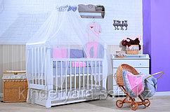 Комплект в кровать GulSara 6 предметов, Бязь Розовый