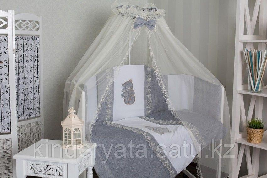 Комплект в кровать GulSara 6 предметов, Бязь Серый