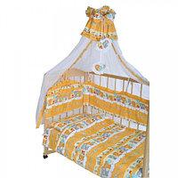GulSara Комплект в кроватку 7 пр Бязь (балдахин 150х285) Бежевый
