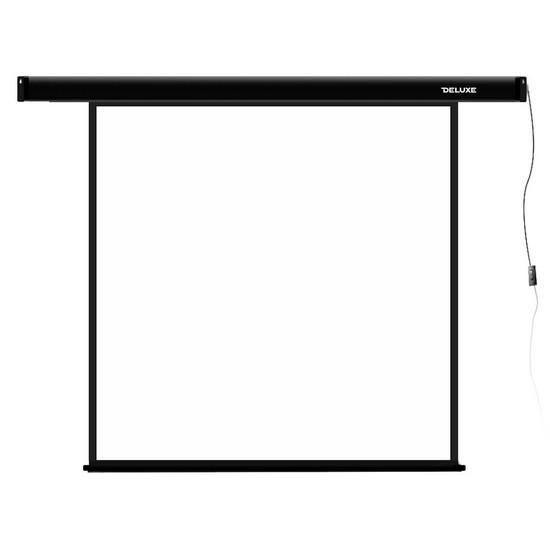 Экран для проекторов, Deluxe, DLS-E213x, Моторизированный, 213x213, Matt white, Чёрный