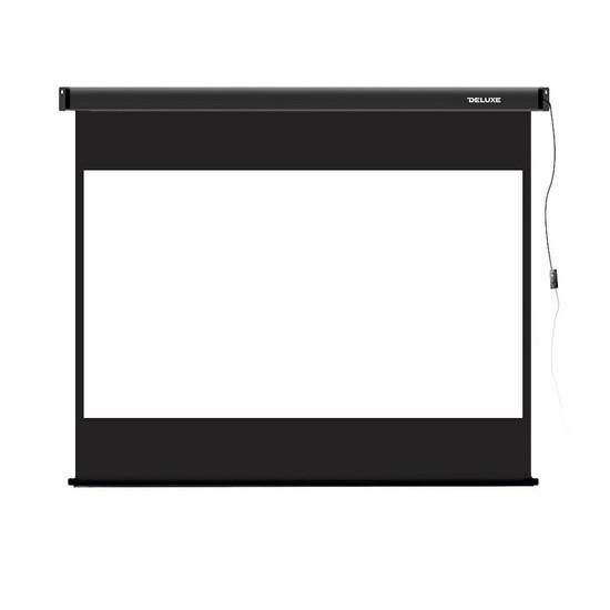 Экран для проекторов, Deluxe, DLS-E229-185, Моторизированный, 229x185, Matt white, Чёрный