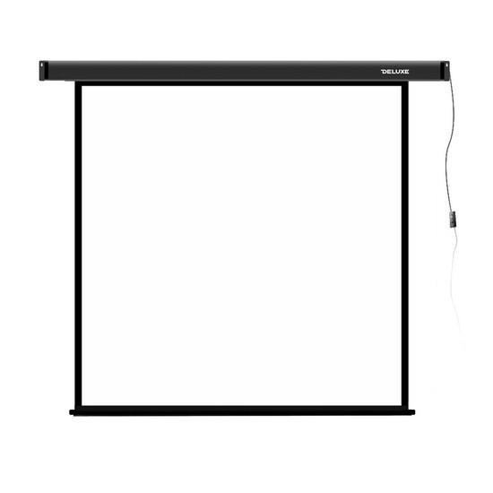 Экран для проекторов, Deluxe, DLS-E406-305, Моторизированный, 406x305, Matt white, Чёрный