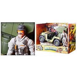 LAN Игровой набор - солдат спецназа с акс. и транспортное средство в асс.