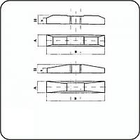 Полушпала железобетонная КШ-27