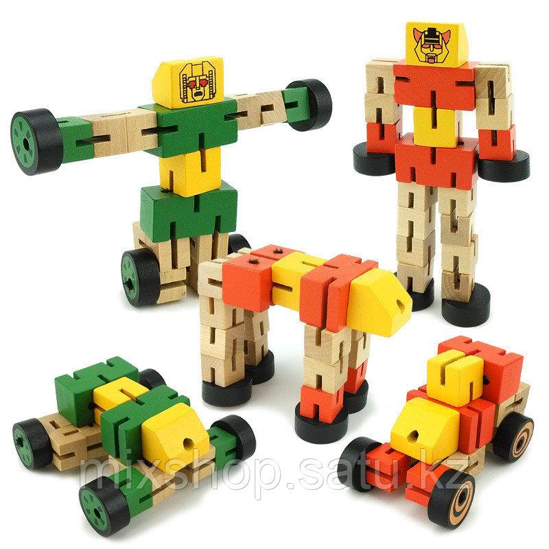 Деревянный робот трансформер