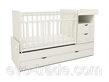 Детская кровать трансформер СКВ-5 (жираф)