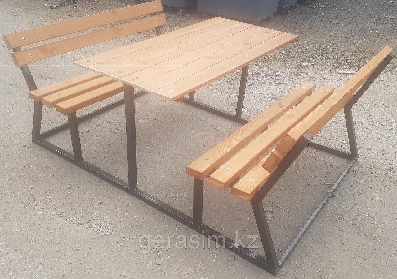 Уличные скамейки в комплекте со столом