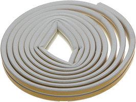 Уплотнитель резиновый самоклеящийся Зубр  (профиль D, белый, 6м)